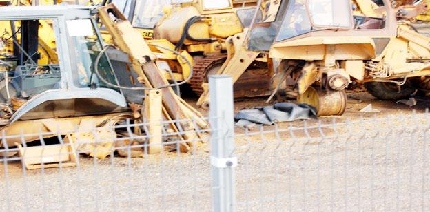 Unfall Bagger Bilder eines Case 580SK
