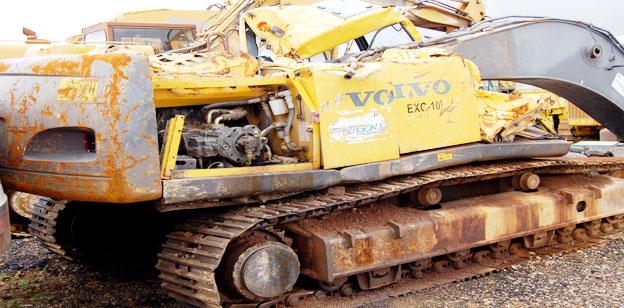 Baggerunfall Bilder Volvo 240