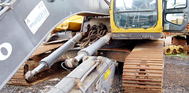 Baumaschinen Crash Bilder