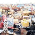 Gebrauchte Baumaschinen Bagger Friedhof