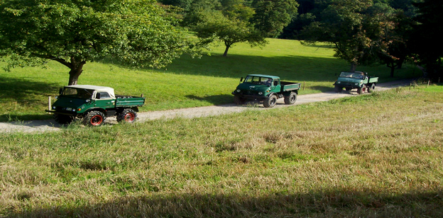 Pfeifer Landmaschinen Lindenfels mit Mercedes Benz Unimog