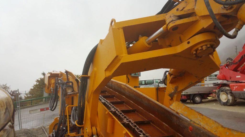 Baggerarm Tunnelbagger Häggloader Atlas Copco