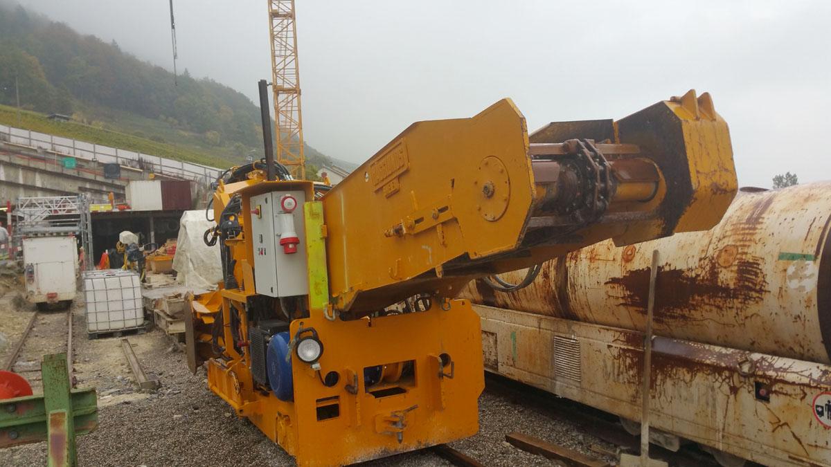 Atlas Copco Tunnelbaumaschine